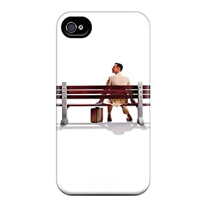 Iphone 4/4s JRT496bkih Forrest Gump Tpu Silicone Gel Case Cover. Fits Iphone 4/4s