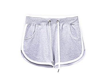 Hippolo Femme Short de Sport Casual Yoga Mode Plage Short (L, gris ... 4a6e6d517d25