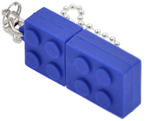 FEBNISCTE Key Chain Model Memory Stick Blue Building Block 4GB USB 2.0 Thumb Pen Drive - 100 Pack by FEBNISCTE (Image #4)