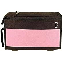 Boblbe-e XM Sirius Satellite Radio Padded Travel Case For Portable or Plug and Play Car Radio, Desk Radio, Speaker System or Accessory Set -Pink & Black-