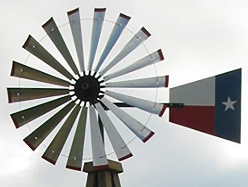 60-inch Windmill Head w/Texas Flag Rudder, Build a 20-Foot Tall Windmill