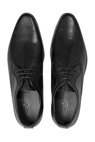 next Hombre Zapatos Derby con Paneles texturizados Negro