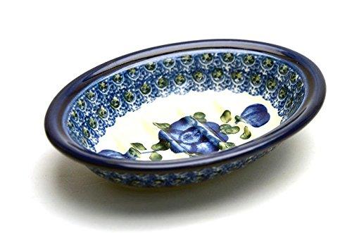 Polish Pottery Soap Dish - Blue Poppy
