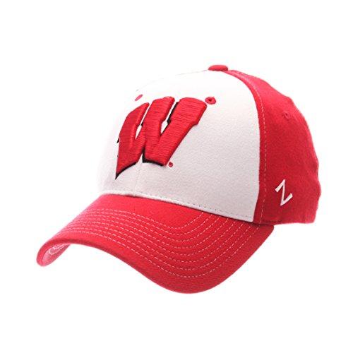 NCAA Wisconsin Badgers Adult Men Bleacher Z-Fit (Badger Hat)