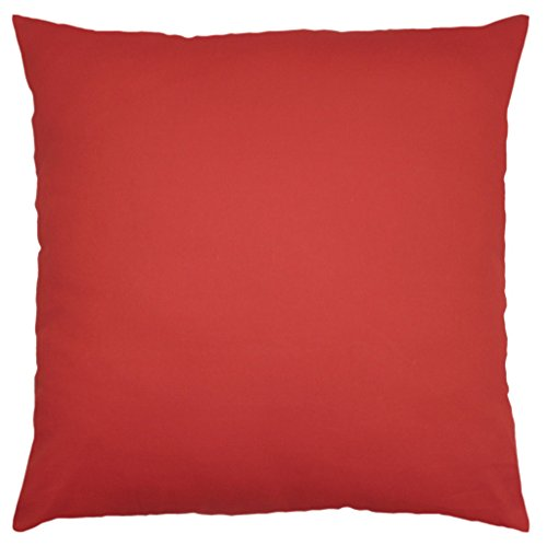 Cotton Throw Pillow Inserts : JinStyles Cotton Canvas Accent Decorative Throw Pillow Covers (Solid Red, Square, 1 Cushion ...