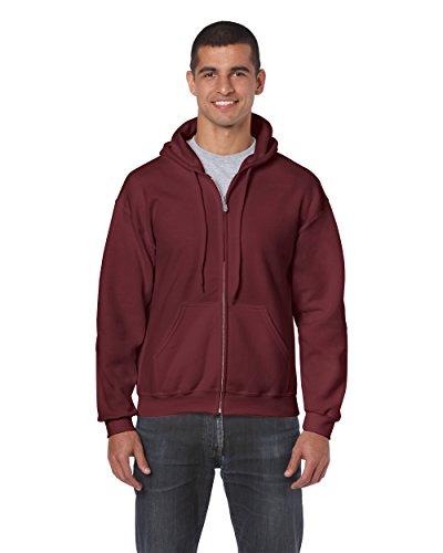 Gildan 18600 – Classic Fit Adult Full Zip Hooded Sweatshirt Heavy Blend – First Quality – Maroon – 5X-Large