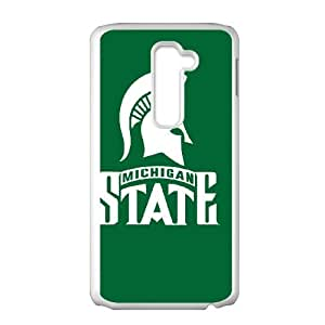 LG G2 Cell Phone Case White Michigan State F8214812