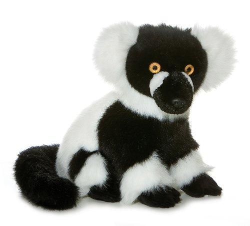 Aurora Plush Black & White Ruffed Lemur - 12