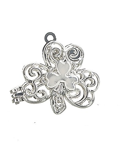 Lucky Shamrock Charm Locket With Angel by Ganz
