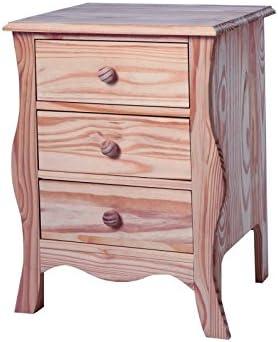 Meubles En Pin Pas Cher Baroque Side Table 3 Drawers Solid Pine H 68 Cm X Width 50 Cm X 30 Cm Amazon Co Uk Kitchen Home