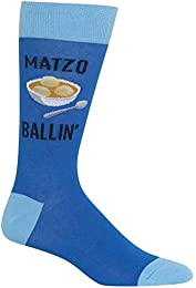 Best Sale Hotsox Mens Matzo Ballin Socks Blue 1 Pair Mens Shoe 6 125