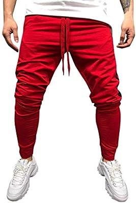 Men Pants Mens Fashion Casual Striped Long Elastic Drawstring Comfort Pockets Sweatpant Trousers Jogger Pants Slacks