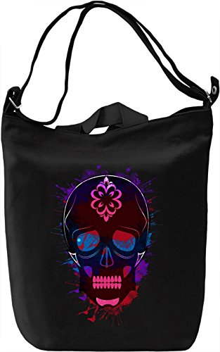 Splash Skull Borsa Giornaliera Canvas Canvas Day Bag| 100% Premium Cotton Canvas| DTG Printing|
