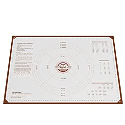 Simple Baker Extra Thick, Extra Large Silicone Pastry Mat with Measurements, 25\