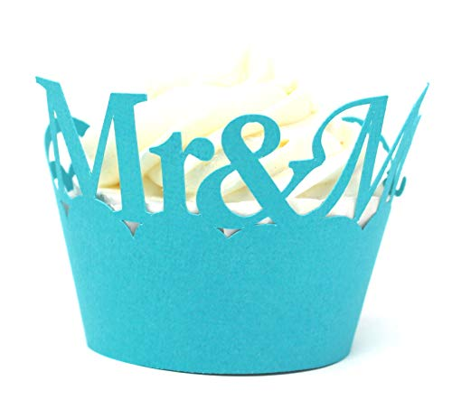All About Details Mr & Mrs Cupcake Wrappers,