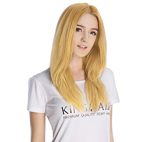 Price comparison product image KINGHAIR Strawberry Blonde(#27) Clip In Remy Hair Extensions - 18 Inches - 130G Full Head Set