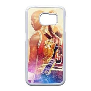 Michael Jordan Z1Y7Bk Funda Samsung Galaxy S6 Edge Funda caja del teléfono celular blanco X3U6DL caja del teléfono Funda Volver Único