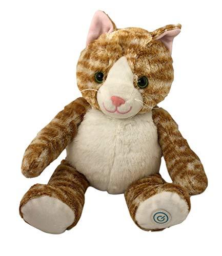 Plush Animal Huggable Massager Comfort Relax Kids Dinosaur Kitty Unicorn (Orange Tabby Cat)
