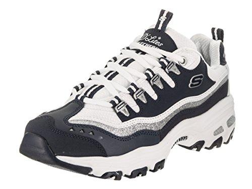 Skechers Sport D'Lites-Neu Retro Damen Sneaker Marine / Weiß
