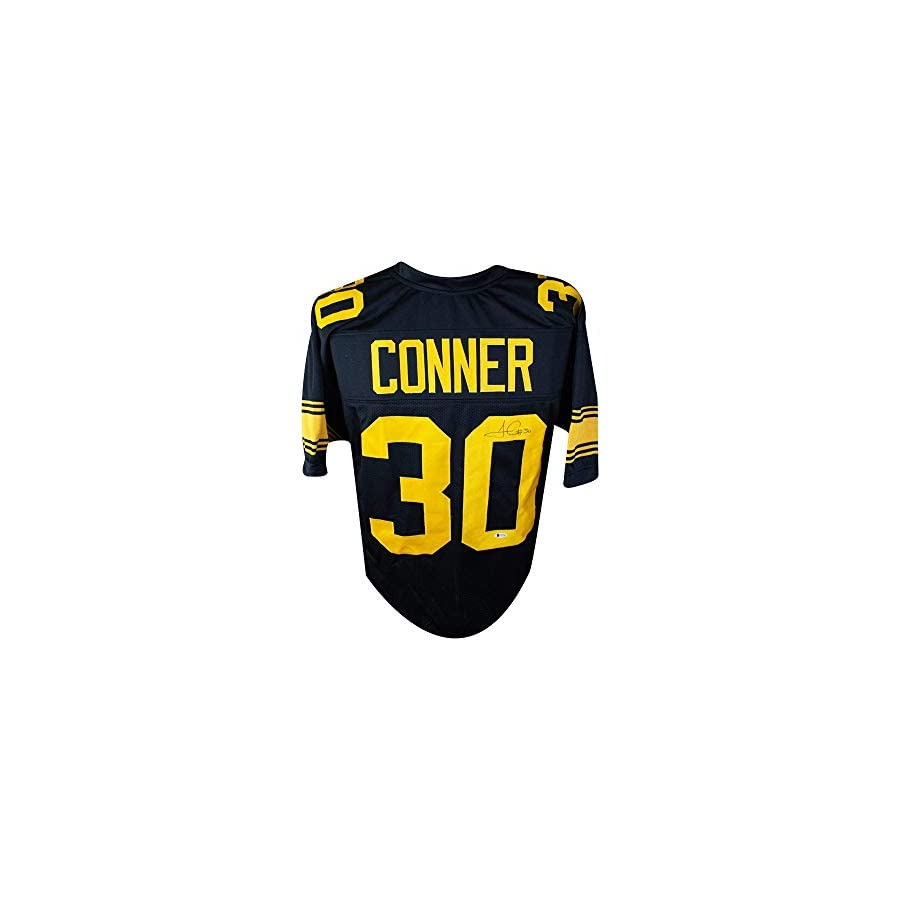 James Conner Autographed Pittsburgh Steelers Custom Color Rush Jersey BAS COA