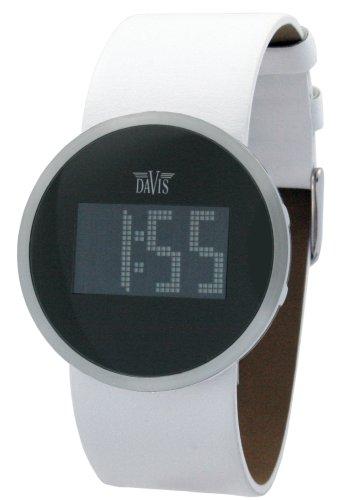 Davis 1191 - Reloj digital de mujer de cuarzo con correa de acero inoxidable plateada - sumergible a 30 metros: Amazon.es: Relojes