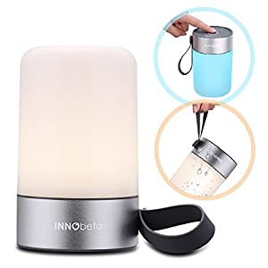 Mini Lamp Night Light - Portable Table Lamp for Kids, Bedside lamp with Dimmable Warm White Light & Color Changing LED lights, Rechargeable Desk Lamp, Bedroom Lamp, Bedside Lamp - InnoBeta Mina