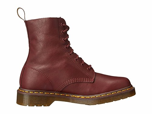 Dr. Martens Women's Pascal Combat Boot Cherry Red Virginia leather 4 UK/6 M -
