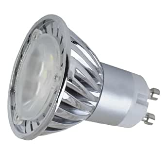 110v 3w gu10 led spotlight 7000k 330lm pure white 45 degree beam angle 35watt halogen