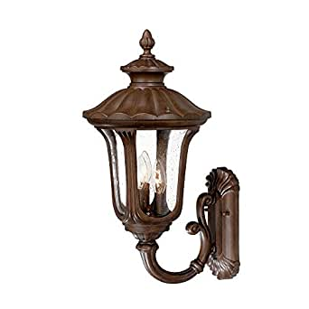 Three Light Burled Walnut Wall Lantern 3861BW