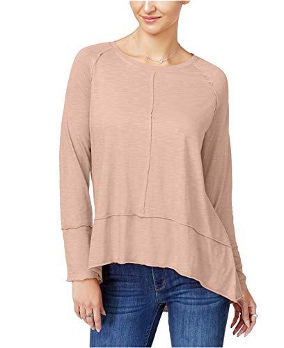 707 Petal - Style & Co.. Women's Cotton High-Low Top (Crushed Petal, Medium)