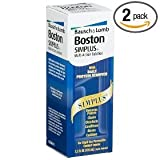 Boston Simplus Multi-Action Solution for Rigid Gas Permeable Contact Lenses (Pack of 2) Two 3.5 oz Bottles + One 1 oz Travel Bottle TOTAL 8 fl oz Plus Bonus One Contact Lens Case
