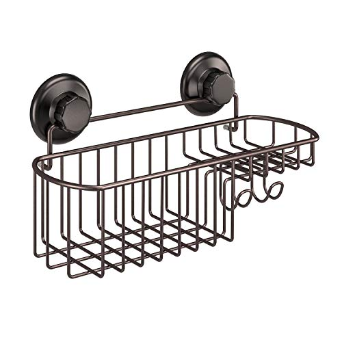 HASKO accessories - Powerful Vacuum Suction Cup Shower Caddy Basket for Shampoo -