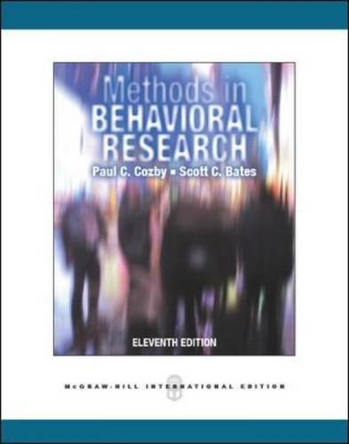 Methods in Behavioral Research by Paul C. Cozby (2012-01-01)