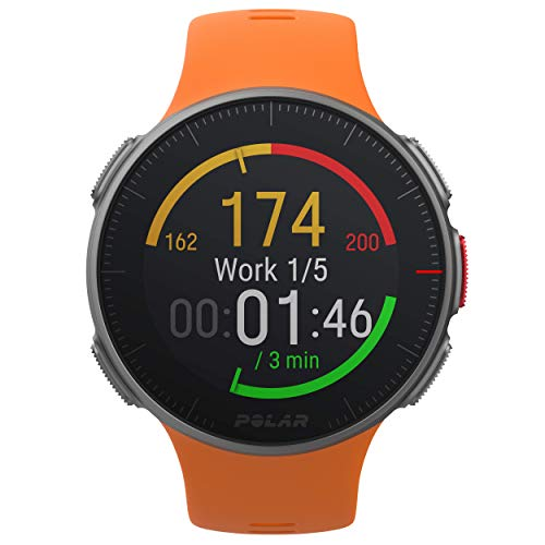 (Polar Vantage V - Premium GPS Multisport Watch for Multisport & Triathlon Training (Heart Rate Monitor, Running Power, Waterproof), One Size, Orange)