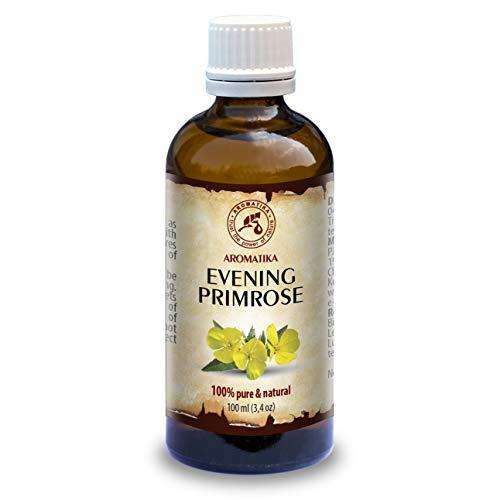 Aceite de Onagra 100ml - Oenothera Biennis - Evening Primrose Oil - Prensado en Frío y Refinado - Aceite Onagra Vespertina para Rostro - Cuerpo - Cabello ...