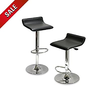 Pleasant Amazon Com Breakfast Bar Stools Set Of 2 Adjustable Swivel Pabps2019 Chair Design Images Pabps2019Com