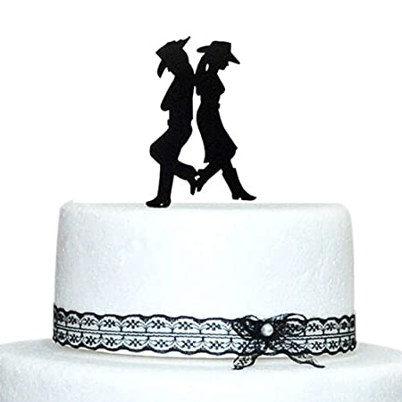 Astonishing Buythrow Wedding Cake Topper Country Western Wedding Amazon Funny Birthday Cards Online Barepcheapnameinfo