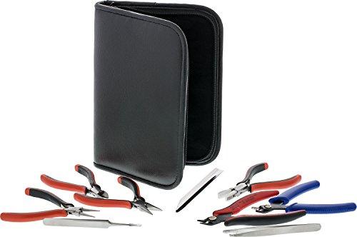 9-Piece Beadsmith Deluxe Jewelry Pliers Ergonomic Tool Kit with ()
