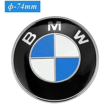 Amazon Com 74mm Bmw Emblem 2 Pin Replacement Badge Hood