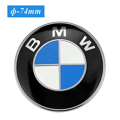 - 74mm BMW Trunk Emblem, 2 Pin Replacement Badge Hood or Trunk Logo Fit for BMW 2-Series, 3-Series, 4-Series, M-Series, E46 E90 E82