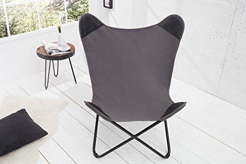 DuNord Design Sessel Stuhl TEXAS Grau Leinen Loungesessel Esszimmer  Butterfly Klappstuhl: Amazon.de: Küche U0026 Haushalt