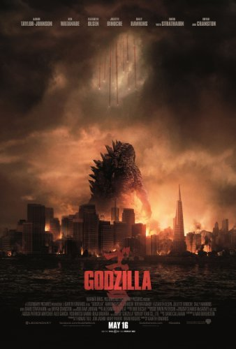 Godzilla (2014) 24X36 Movies Poster (THICK) - Aaron Taylor-Johnson, Elizabeth Olsen, Bryan Cranston by World Mall - Mall Cranston