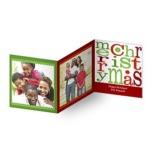 personalized photo christmas cards merry christmas tri fold - Tri Fold Christmas Cards