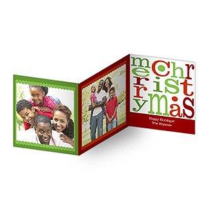 amazon com personalized photo christmas cards merry christmas tri