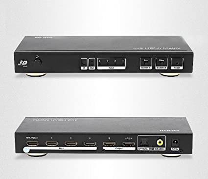 INNOBAY i-HM04 4x2 HDMI Matrix Video Switch Splitter with Audio and RS232 Digital to