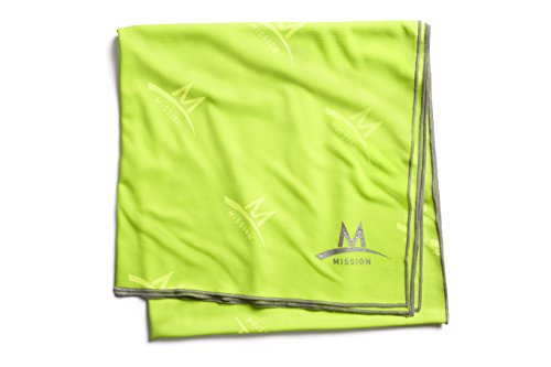 Mission Enduracool Recovery Cooling Towel, Hi Vis Green