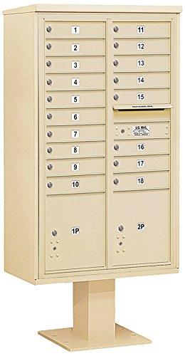 Salsbury Industries 3415D-18SAN 4C Pedestal Mailbox, (4c Horizontal Mailboxes Box)