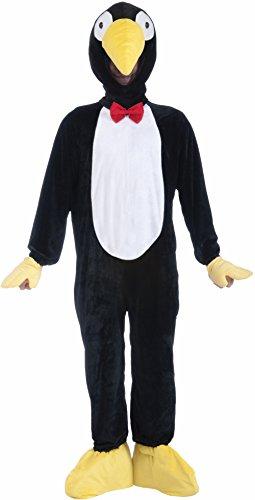 s Plush Penguin Mascot Costume, Black/White, Standard (Penguin Mascot Costume)