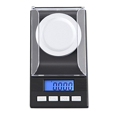 Ct Total Lab (Zorvo Mini 0.001g x 50g Milligram Precision 1mg Digital Pocket jewelry scales diamond gold portable electronic carat Lab Powder weigh scales Calibration Weight LCD display)