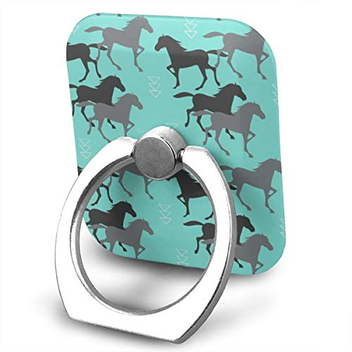 Wild Pedestal Rose Metal (Wild Horse Running Phone Finger Ring 360 Degree Rotation Foldable Set Compatible with Most of Smartphones Tablet and Case Sold)
